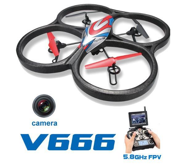 Квадрокоптер большой р/у WL Toys V666 Cyclone с FPV системой 5.8GHz фото видео изображение