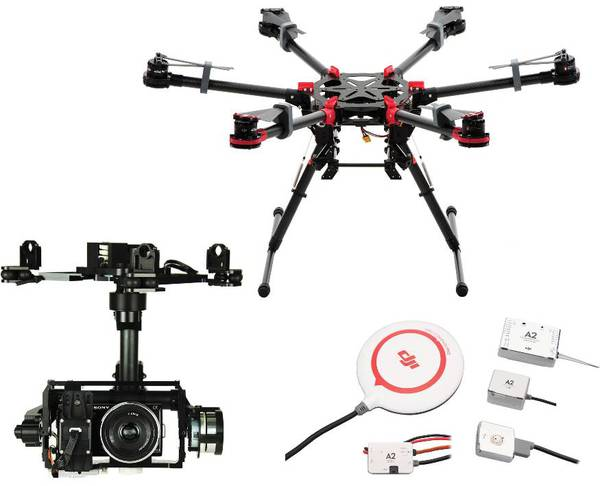 фото Гексакоптер DJI S900 + полетный контроллер A2 + подвес Z15-N7 видео отзывы