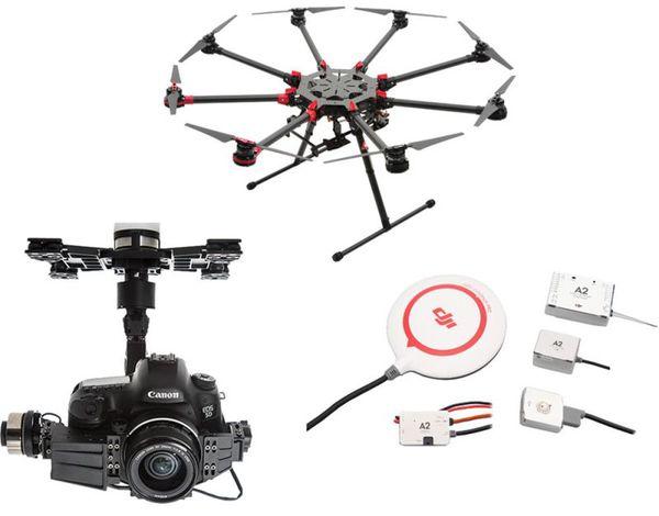 фото Октокоптер DJI S1000Plus + полетный контроллер A2 + подвес Z15-5D видео отзывы