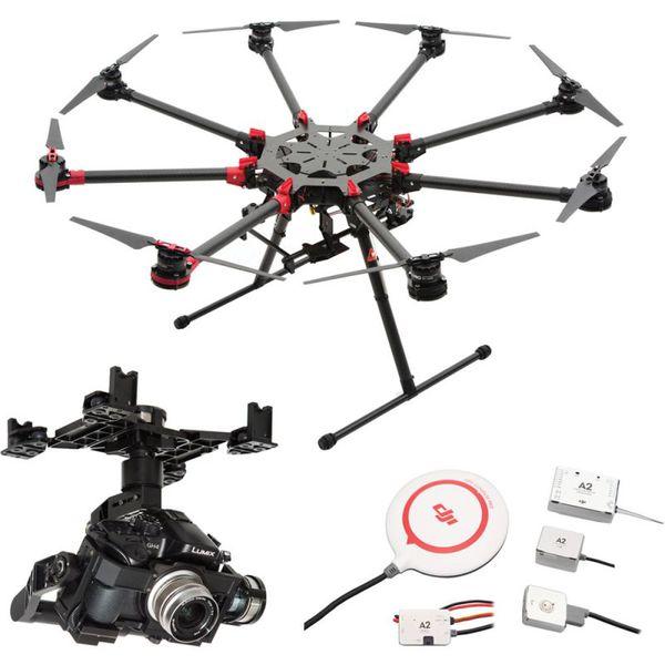 фото Октокоптер DJI S1000Plus + полетный контроллер A2 + подвес Z15-GH4 видео отзывы