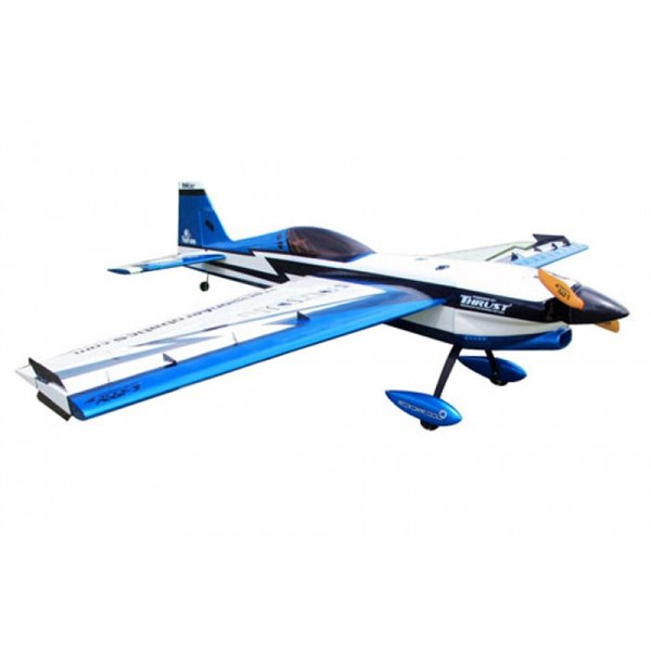 Самолёт р/у Precision Aerobatics Addiction 1000мм KIT (синий) фото видео изображение
