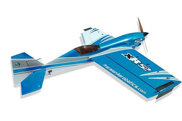 Самолёт р/у Precision Aerobatics Addiction X 1270мм KIT (синий) фото видео изображение
