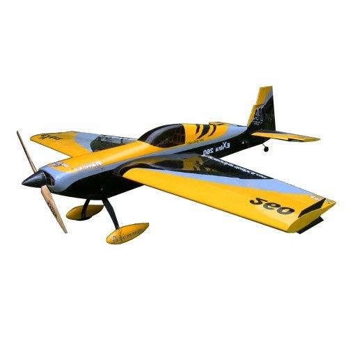 Самолёт р/у Precision Aerobatics Extra 260 1219мм KIT (желтый) фото видео изображение