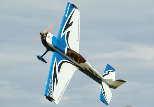 Самолёт р/у Precision Aerobatics Katana MX 1448мм KIT (синий) фото видео изображение