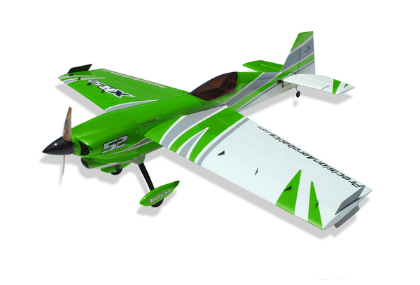 Самолёт р/у Precision Aerobatics XR-52 1321мм KIT (зеленый) фото видео изображение
