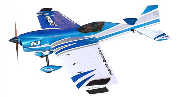 фото Самолёт р/у Precision Aerobatics XR-61 1550мм KIT (синий) видео отзывы