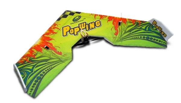 Летающее крыло Tech One Popwing 900мм EPP ARF (зеленый) фото видео изображение