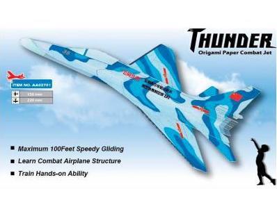 Самолёт (истребитель) метательный ZT Model Thunder фото видео изображение