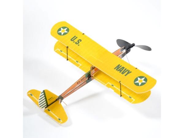 Самолет (биплан) резиномоторный ZT Model Aviator 430мм фото видео изображение