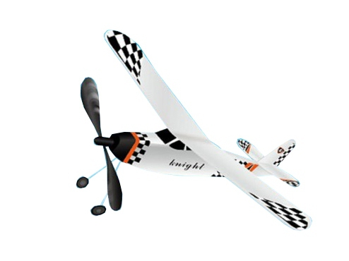 Самолет резиномоторный ZT Model Knight 395мм фото видео изображение