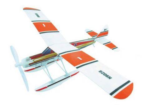 Самолёт (гидроплан) резиномоторный ZT Model Aviator 460мм фото видео изображение