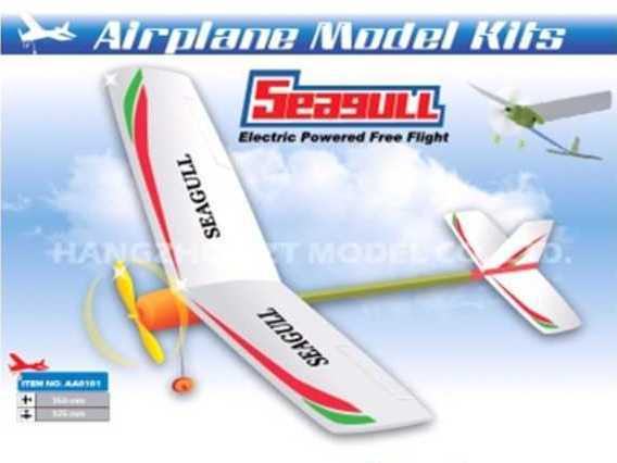 Самолет электромоторный ZT Model Seagull 470мм фото видео изображение