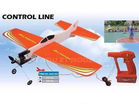 Самолет кордовый ZT Model Basic Plane 410мм с электромотором фото видео изображение