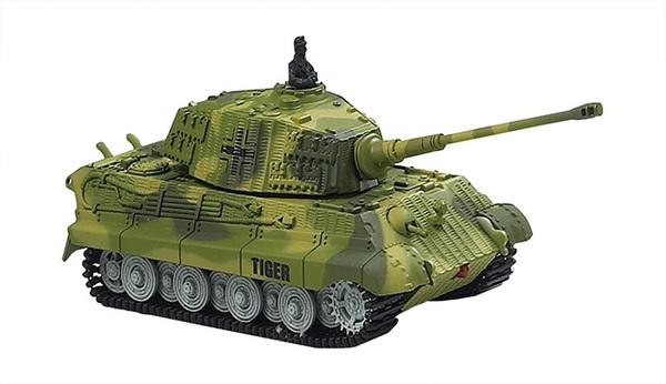 Танк микро р/у 1:72 King Tiger со звуком (зеленый, 27MHz) фото видео изображение