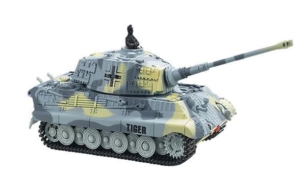 Танк микро р/у 1:72 King Tiger со звуком (серый, 49MHz) фото видео изображение