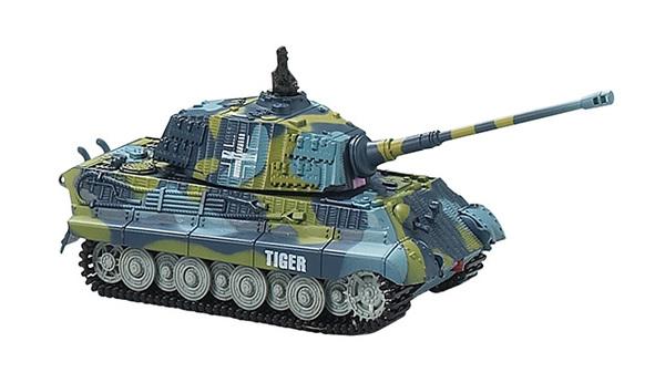 Танк микро р/у 1:72 King Tiger со звуком (синий, 40MHz) фото видео изображение