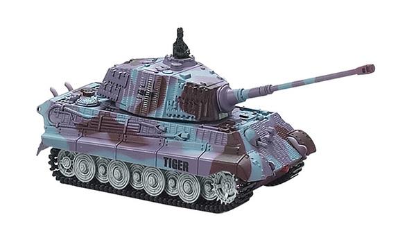 Танк микро р/у 1:72 King Tiger со звуком (фиолетовый, 35MHz) фото видео изображение