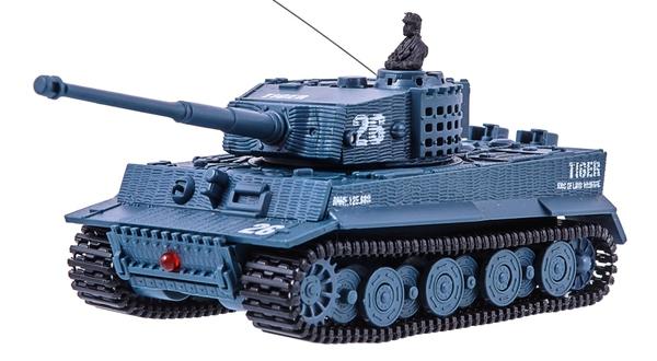 фото Танк микро р/у 1:72 Tiger со звуком (серый) видео отзывы