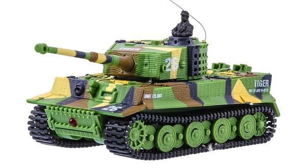фото Танк микро р/у 1:72 Tiger со звуком (хаки зеленый) видео отзывы