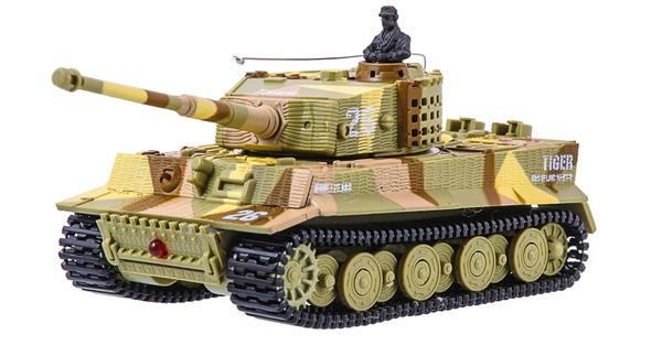 фото Танк микро р/у 1:72 Tiger со звуком (хаки коричневый) видео отзывы