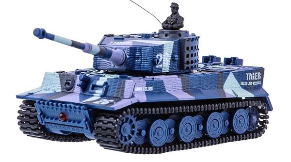 фото Танк микро р/у 1:72 Tiger со звуком (хаки синий) видео отзывы