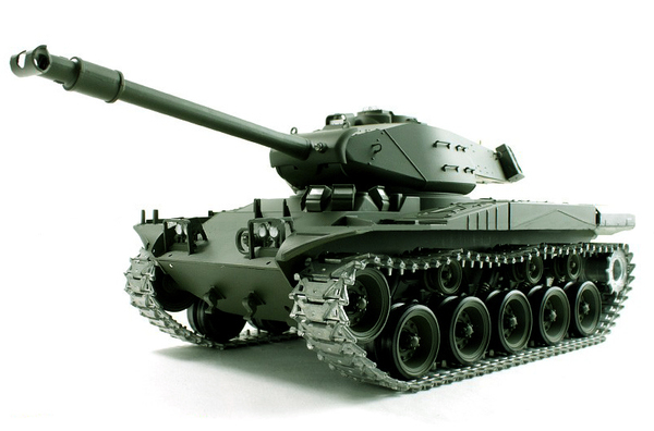 Цена Танк р/у 1:16 Heng Long Bulldog M41A3 с пневмопушкой и и/к боем (HL3839-1)