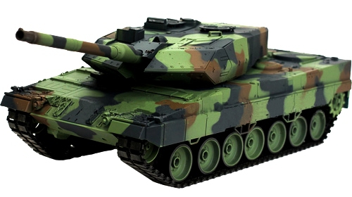 Танк р/у 2.4GHz 1:16 Heng Long Leopard II A6 с пневмопушкой и дымом (HL3889-1) фото видео изображение