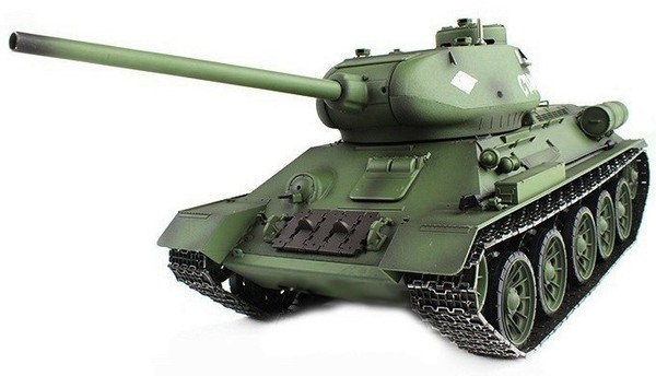 Танк р/у 2.4GHz 1:16 Heng Long T-34 с пневмопушкой и дымом (HL3909-1) фото видео изображение