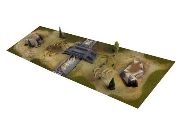 Диорама VSTANK для танкового боя 58x180см фото видео изображение