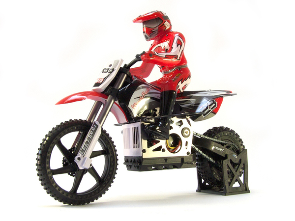 Мотоцикл 1:4 Himoto Burstout MX400 Brushed (красный) фото видео изображение