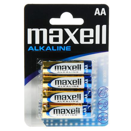 Батарейка AA Maxell Alkaline LR6 в блистере 1шт (4шт в уп.) фото видео изображение
