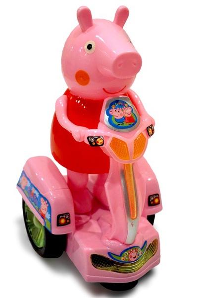 Свинка Пеппа на бат. Peppa Pig на мотоцикле фото видео изображение
