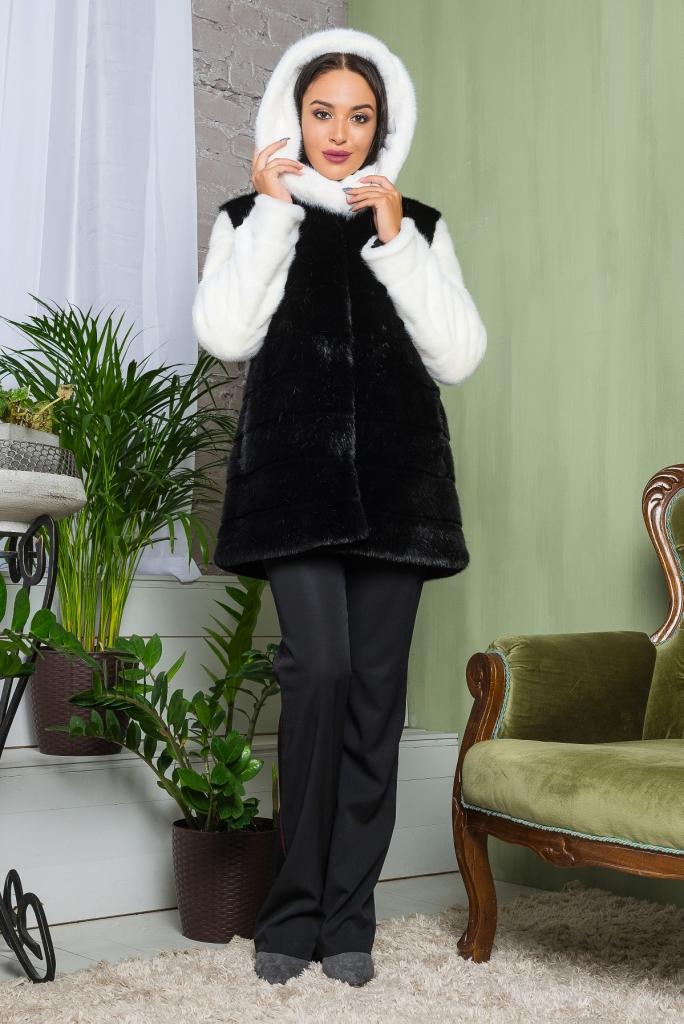 Купить Молодежная короткая Шуба стильного покроя под норку из эко меха 2-064 черная цена